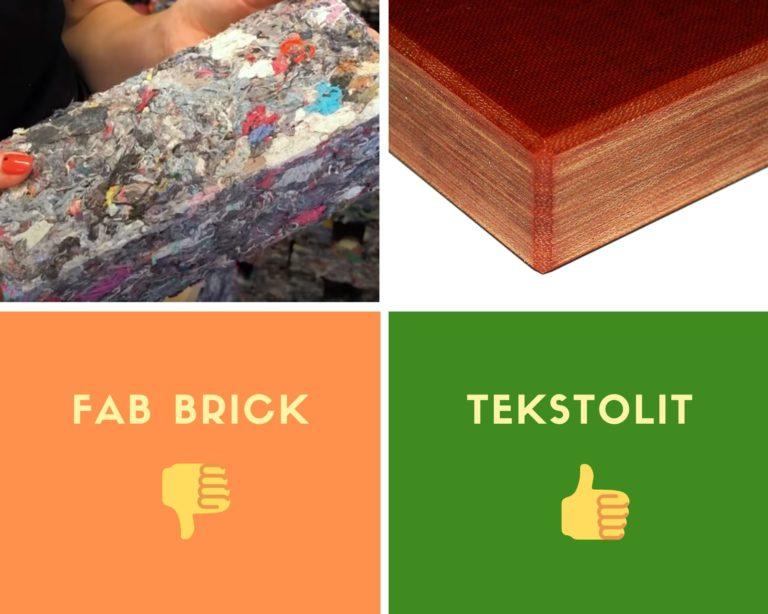 """Fab BRICK – """"eko""""-cegły z tkanin"""