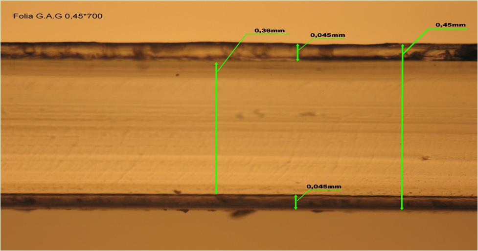 folia GAG PET otrzymana metodą koekstruzji