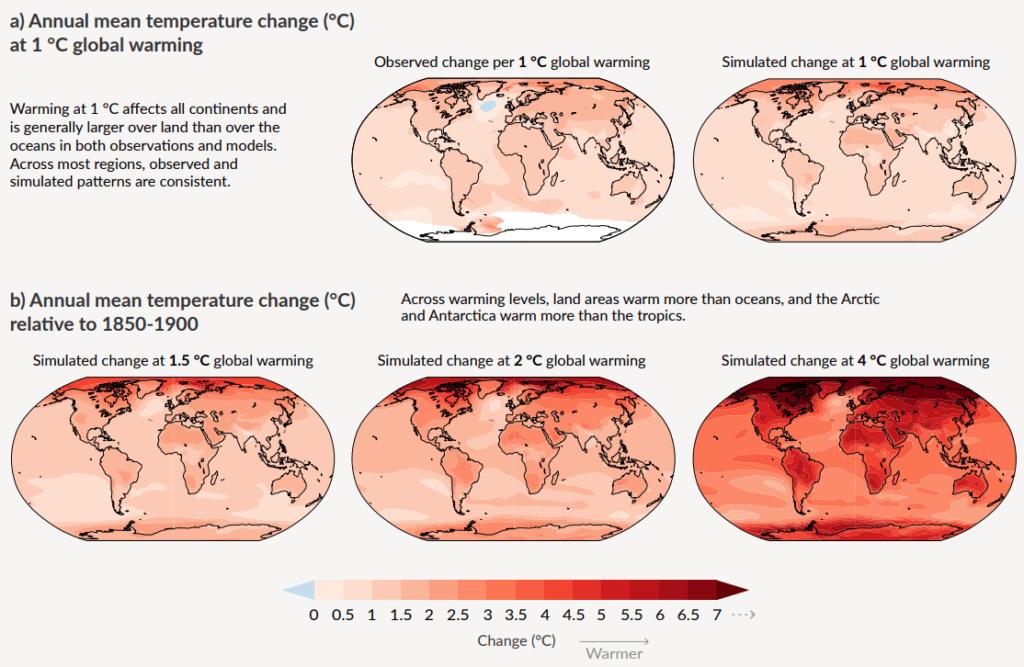 Rozkład średniej temperatury na kuli ziemskiej